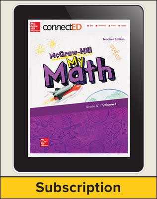 McGraw-Hill My Math, Teacher Center 1 Year Subscription Grade 5
