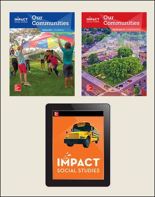 IMPACT Social Studies, Our Communities, Grade 3, Foundational Print & Digital Student Bundle, 1 year subscription