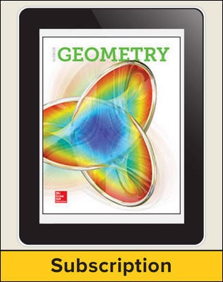 Glencoe Geometry 2018, eStudent Edition online, 1-year subscription