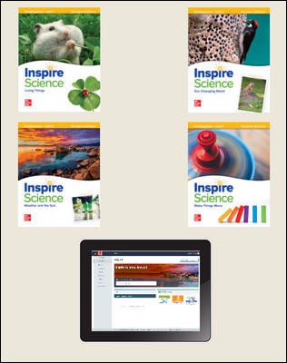Inspire Science, Grade K Online Student Center with Print Student Edition Units 1-4, 1 Year Subscription