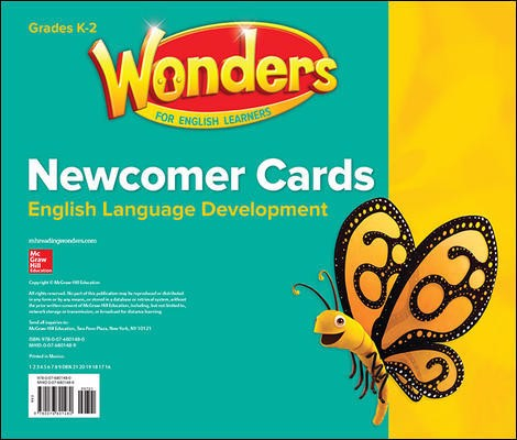 Wonders for English Learners Newcomer Cards Grades K-2