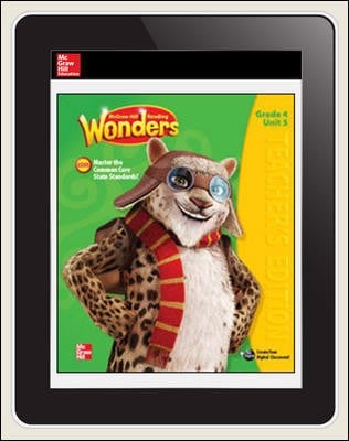 Wonders Student Online Workspace 1-Year Online Subscription Grade 4