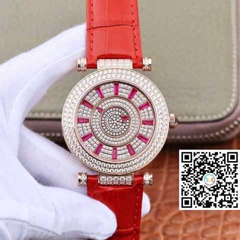 Đồng hồ cơ nam Franck Muller DM Rose Gold Double Mystery Diamond Ruby DM42D2RCD