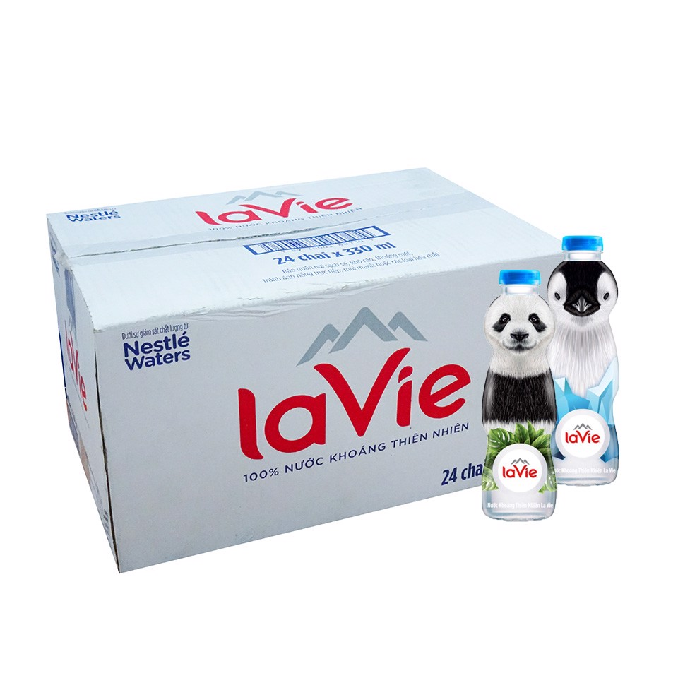Thùng Lavie Kid 330ml