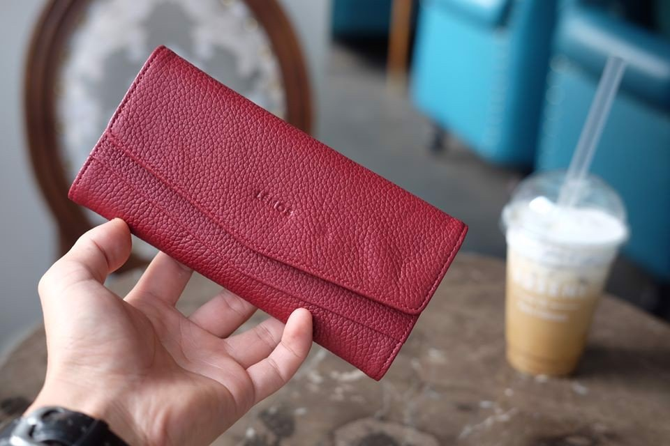 WALLET CERA - In Natural Milled Leather - Đỏ - HP71-34