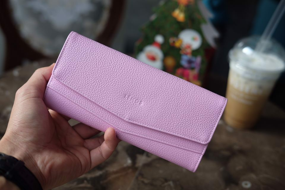 WALLET CERA - In Natural Milled Leather - Hồng - HP71-36