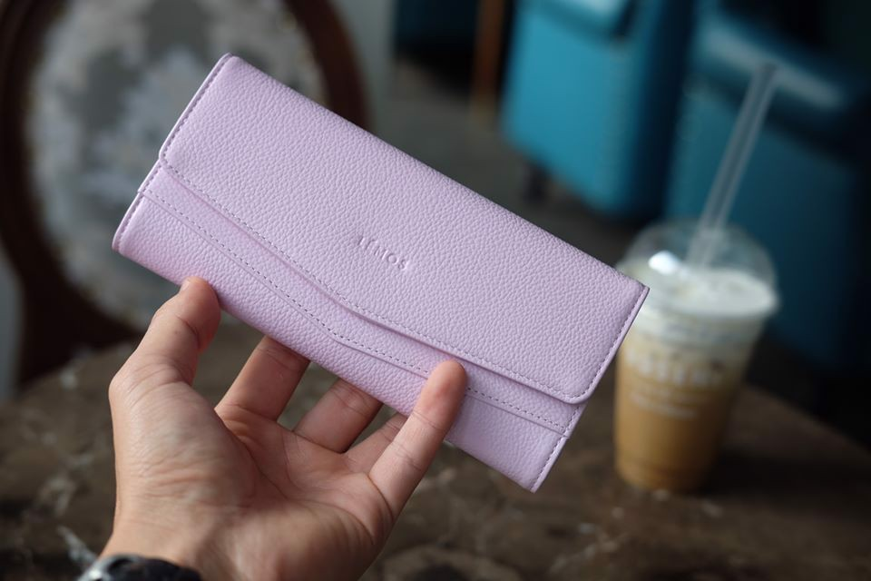 WALLET CERA - In Natural Milled Leather - Hồng tím - HP71-37