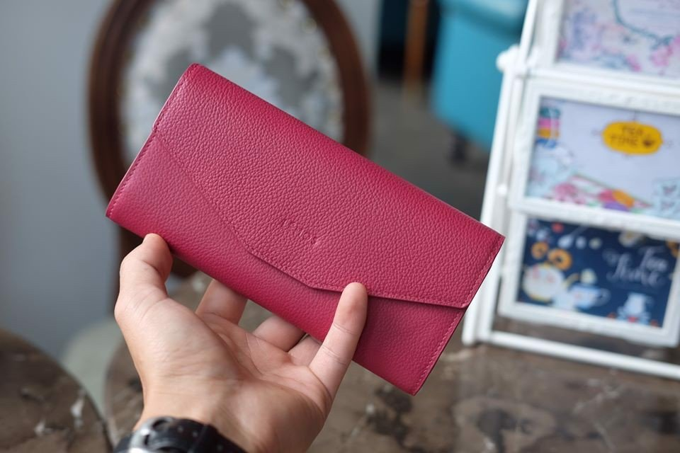 WALLET NAMIKO - In Natural Milled Leather - Hồng tím - HP73-37