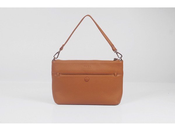 CROSSBODY BAG - IN NATURAL MILLED LEATHER - GV75-20