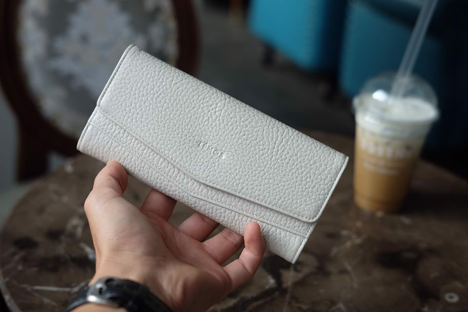 WALLET CERA - In Natural Milled Leather - Trắng - HP71-01