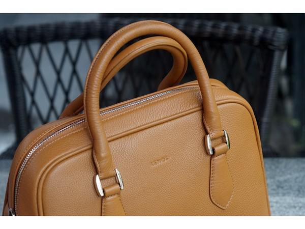 MOLLU SHELL - IN NATURAL MILLED LEATHER - BROWN