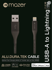 Mazer ALU.DURA.TEK Lightning To USB Cable 1.2M