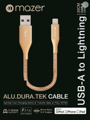 Mazer ALU.DURA.TEK Lightning To USB Cable