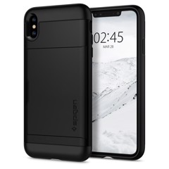 Ốp Iphone XS Spigen Slim Armor CS (đen)