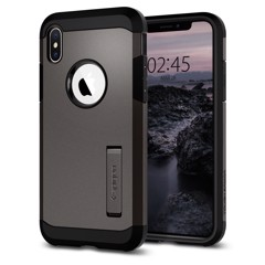 Ốp Iphone XS Spigen Tough Armor (xám)