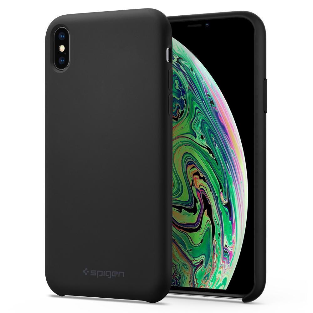 Ốp Lưng Iphone XS/X Silicone Fit Black