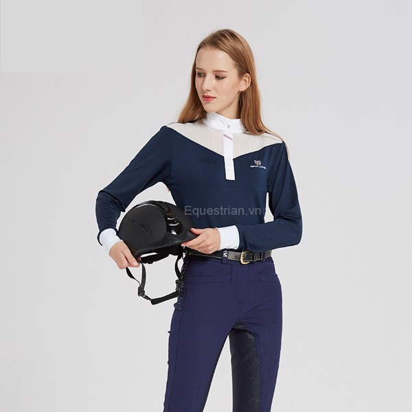 Áo thun dài tay cưỡi ngựa nữ