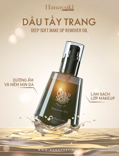 Dầu Tẩy Trang – Deep Soft Make Up Remover Oil - Hanayuki Asia