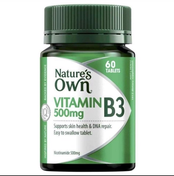 Nature's Own Vitamin B3 Nicotinamide 500mg- 60v