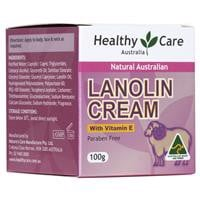 Kem cừu Healthy Care Natural Lanolin – Vitamin E Cream 100g