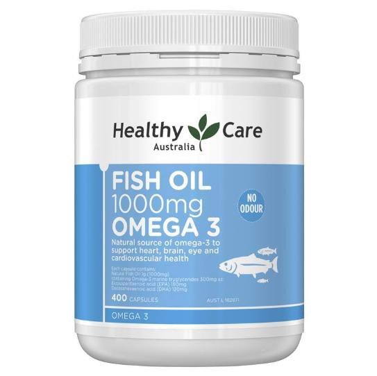 400 VIÊN DẦU CÁ HEALTHY CARE FISH OIL OMEGA 3 1000MG