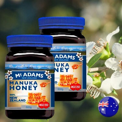 Mật ong Manuka MGO 250+ Mt ADAMS New Zealand 500g