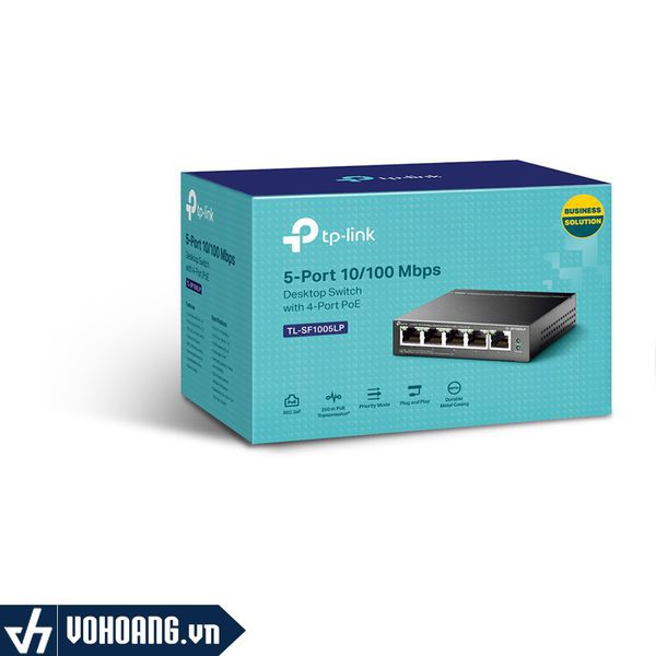 TP-Link SF1005LP |Switch 5 Cổng 10/100Mbps với 4 Cổng PoE