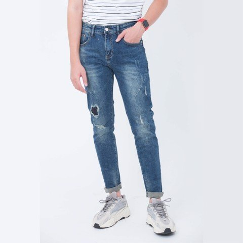 Jeans Slim Fit xanh 03