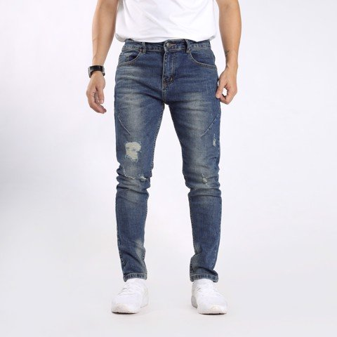 Jeans xanh wash 080