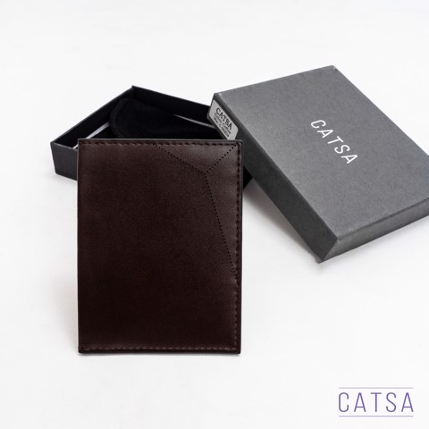 Ví card holder da nâu