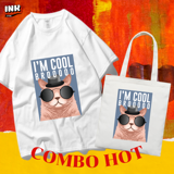 COMBO HOT: Áo thun + túi canvas I'M COOL BROOOO INK239