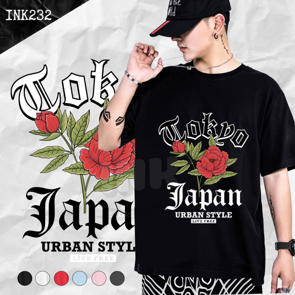 Áo thun ROSE URBAN JAPAN STYLE INK232