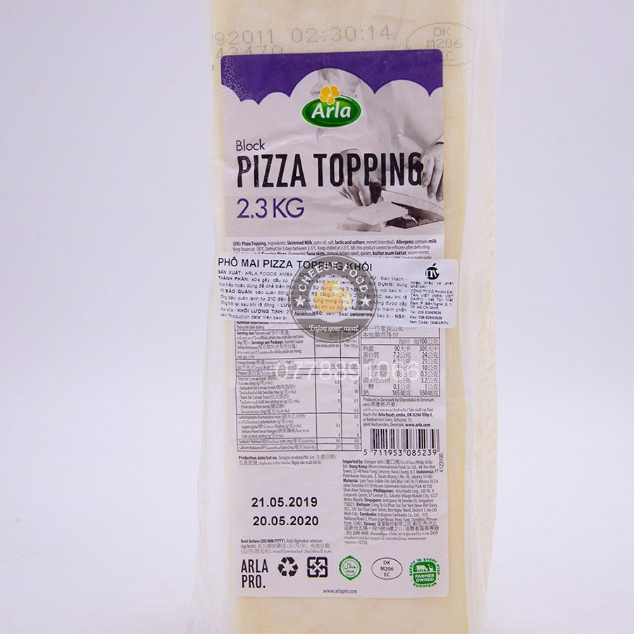 Phô mai Mozzarella Pizza Topping Arla