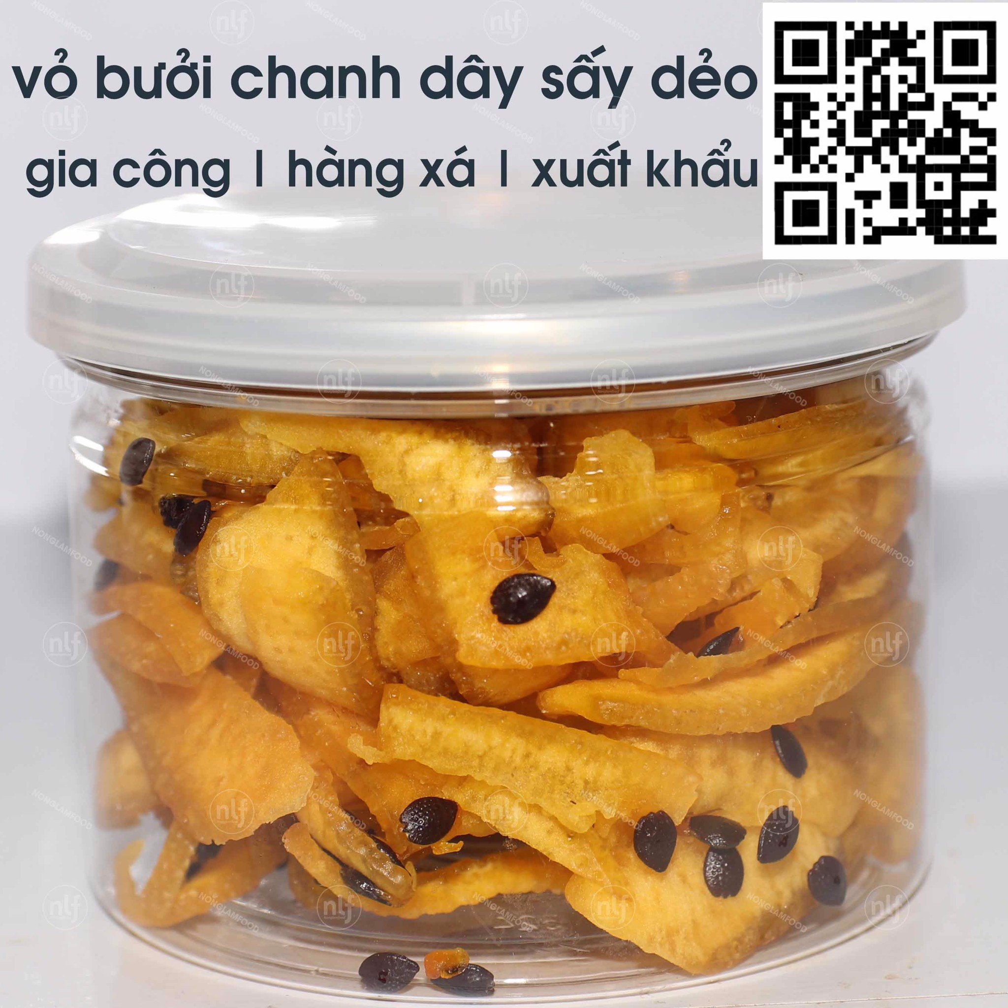 Dried Pomelo peel with Pasion Fruit | Vỏ bưởi Chanh Dây Sấy Dẻo 1kg