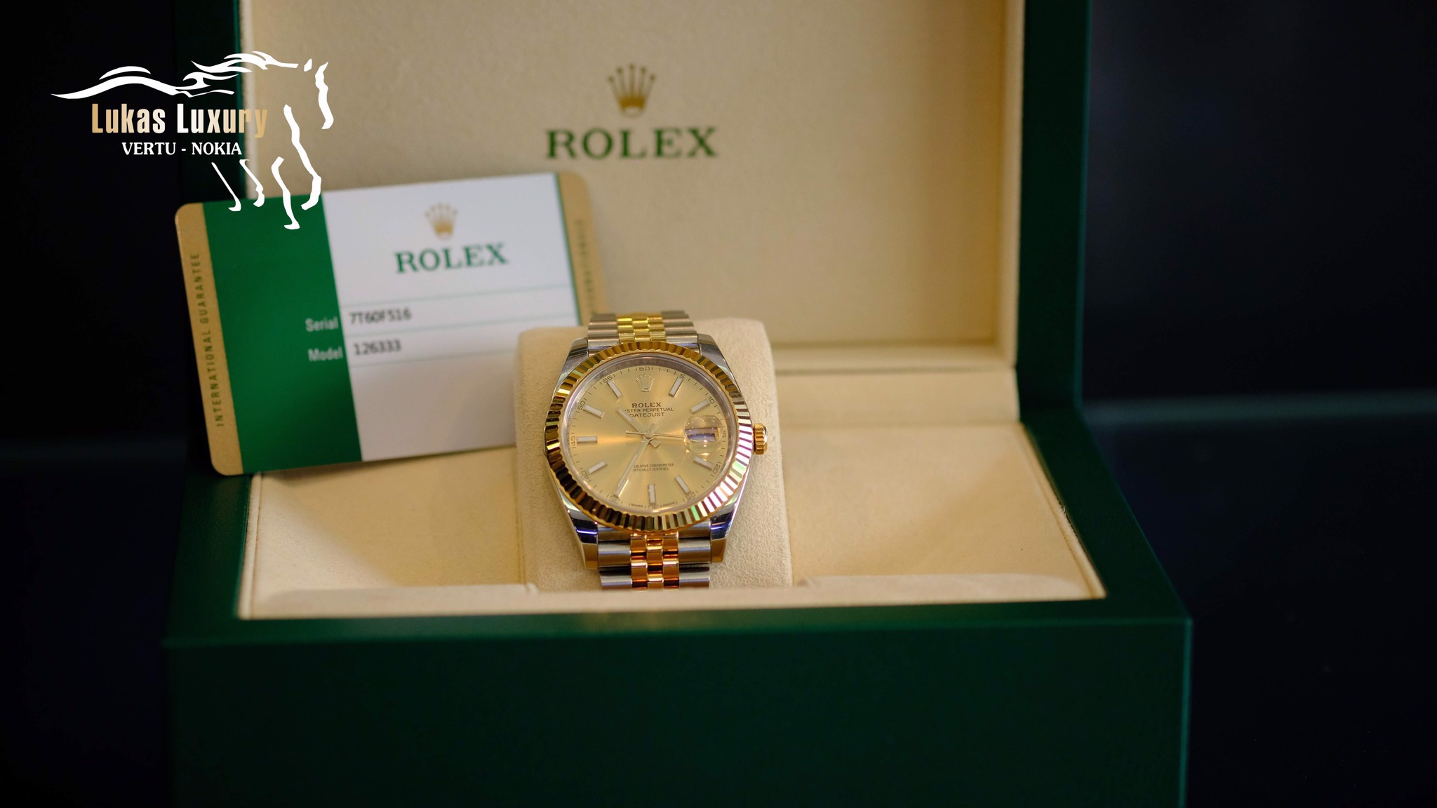 ROLEX DATEJUST 36MM, STEEL AND YELLOW 116233