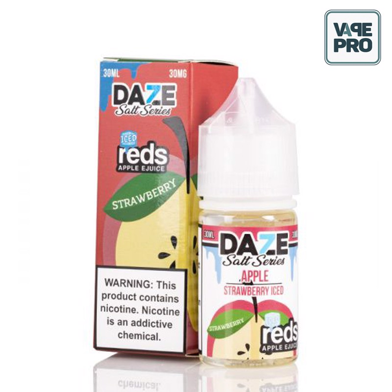 ICED STRAWBERRY(Táo dâu tây lạnh) - REDS APPLE - 7 DAZE SALT - 30ML