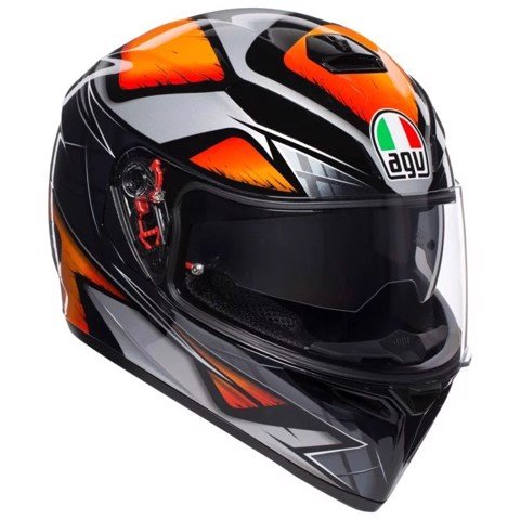 K-3 SV AGV E2205 MULTI ASIA3 LIQUEFY BLACK/ORANGE