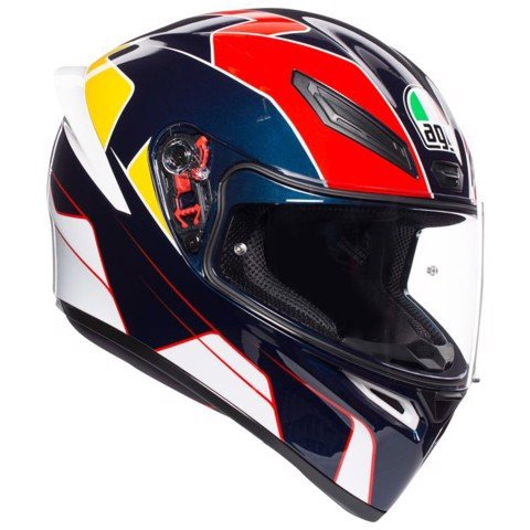 K1 AGV E2205 MULTI ASIA FIT PITLANE BLUE RED/YELLOW