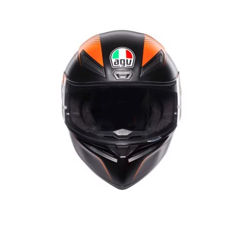 K1 AGV E2205 MULTI ASIA FIT WARMUP MATT BLACK/ORANGE