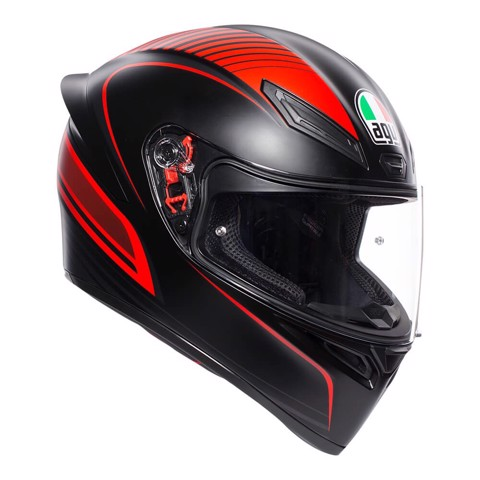 K1 AGV E2205 MULTI ASIA FIT WARMUP MATT BLACK/RED