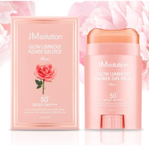 Lăn chống nắng JMsolution Glow Luminous Flower Light Sun Tick Rose SPF50 20g