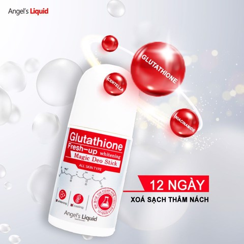 Lăn khử mùi Angel's Liquid Glutathione Fresh Up Whitening 60ml