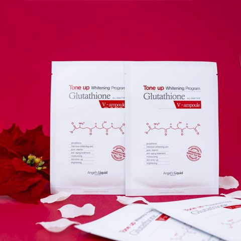 Mặt nạ trắng da Angel's Liquid Tone up Whitening Program Glutathione Mask