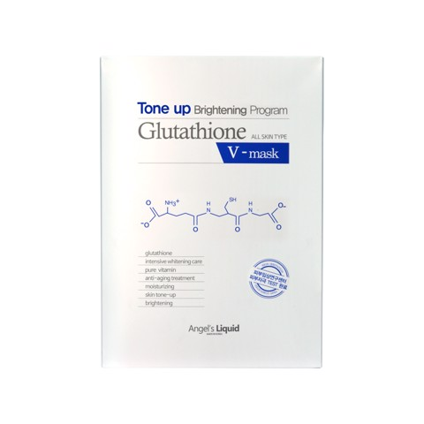Mặt Nạ Trắng Da Angel's Liquid Tone Up Glutathione Brighterning Program V-Mask