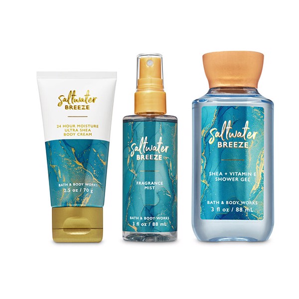 Set Mini Bath & Body Works saltwater BREEZE