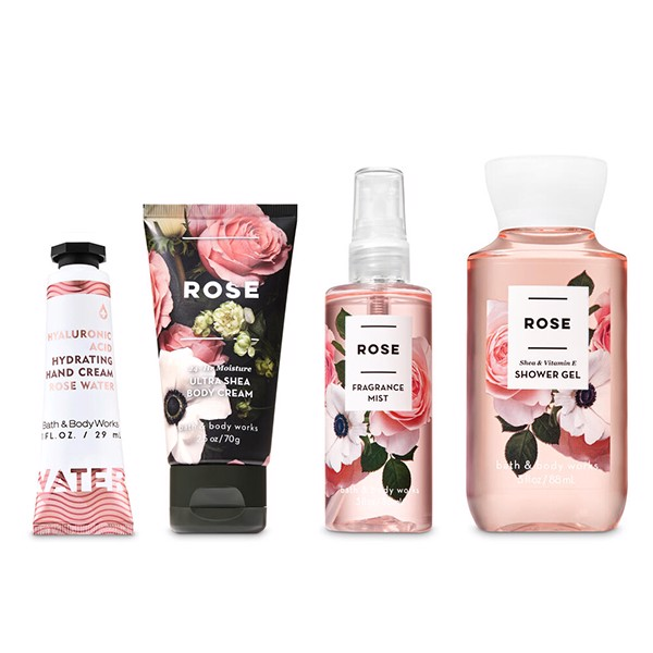 Set Mini Bath & Body Works ROSE
