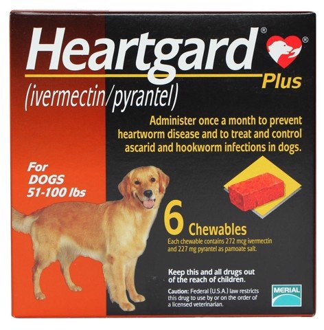 Heartgard Plus Chewables Brown 22,5kg - 45kg
