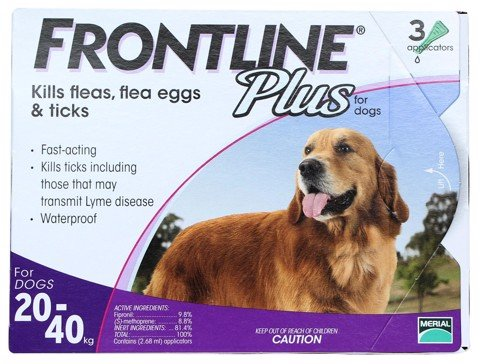 Frontline Plus For Dogs 20 - 40kg