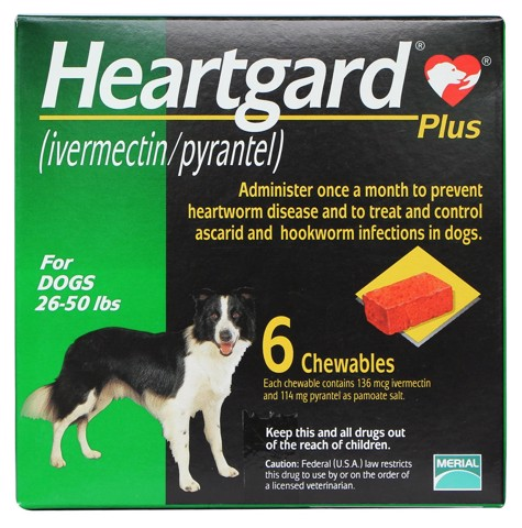 Heartgard Plus Chewables Green 11,5kg - 22,5kg