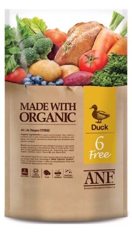 ANF Dog 6 Free Organic Duck 6kg